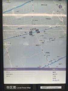 民雷路駅周辺図(出入り口)