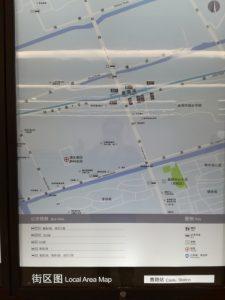 曹路駅周辺図(出入り口)