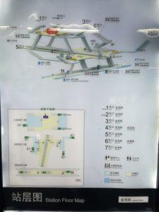 金海路駅構内図