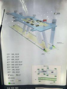 上海科技館駅構内図