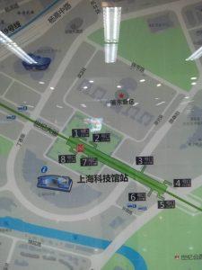 上海科技館駅周辺図(出入口)