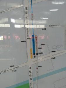 瀋杜公路駅周辺図(出入り口)