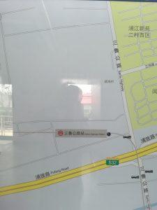三魯公路駅周辺図(出入り口)