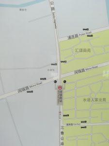 閔瑞路駅周辺図(出入り口)