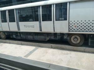 上海軌道交通浦江線(浦江線)のゴムタイヤ