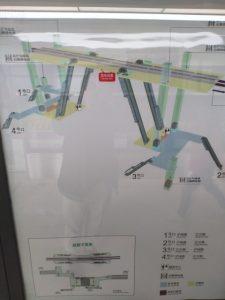 江川路駅構内図