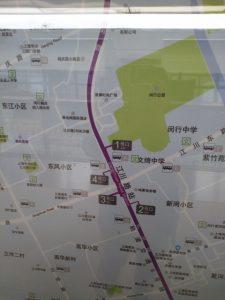 江川路駅周辺図(出入り口)