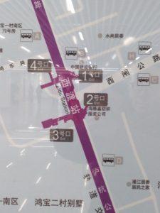 西渡駅周辺図(出入り口)