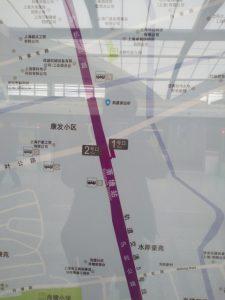 蕭塘駅周辺図(出入り口)
