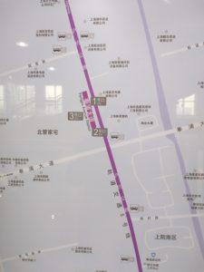 奉浦大道駅周辺図(出入り口)