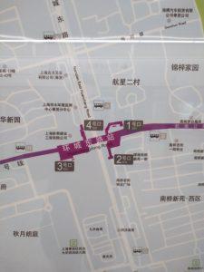 環城東路駅周辺図(出入り口)