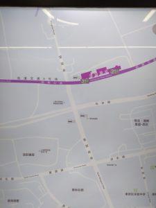 望園路駅周辺図(出入り口)