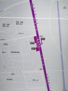 金海湖駅周辺図(出入り口)