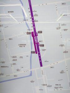 奉賢新城駅周辺図(出入り口)