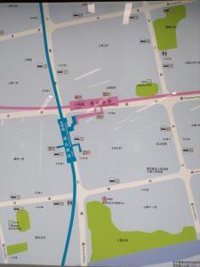 成山路駅周辺図(出入り口)
