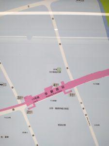 華鵬路駅周辺図(出入り口)