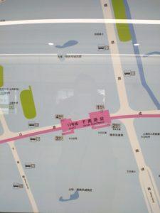 下南路駅周辺図(出入り口)