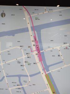 陳春路駅周辺図(出入り口)