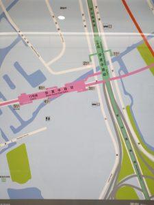 華夏中路駅周辺図(出入り口)