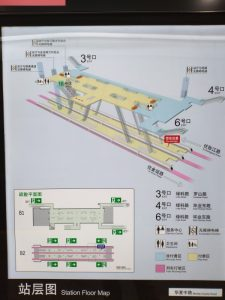 華夏中路駅構内図