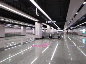 華夏中路駅コンコース