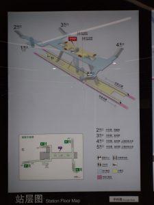 中科路駅構内図