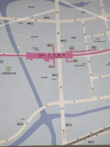 中科路駅周辺図(出入り口)