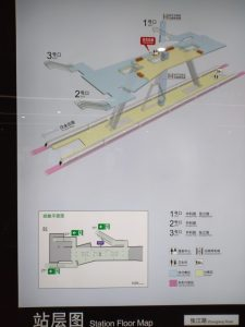 張江路駅構内図