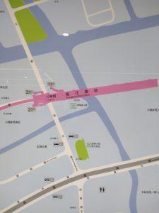 張江路駅周辺図(出入り口)