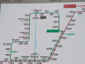 松江現代有軌電車路線図