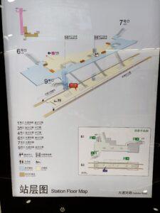 大渡河路駅構内図