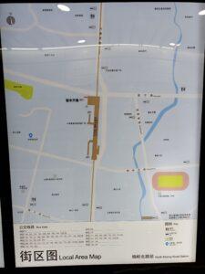 梅嶺北路駅周辺図(出入口)
