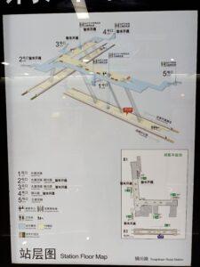 銅川路駅構内図