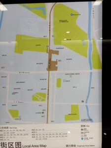 銅川路駅周辺図(出入口)