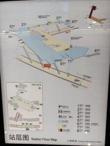 上海西站駅構内図