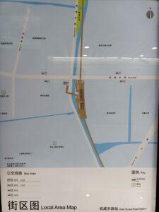 武威東路駅周辺図(出入口)