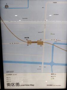 祁安路駅周辺図(出入口)