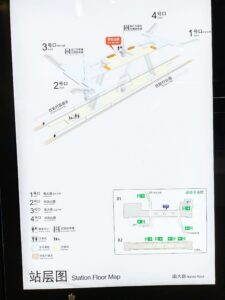南大路駅構内図