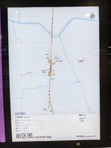 南大路駅周辺図(出入口)