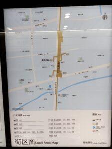 錦秋路駅周辺図(出入口)
