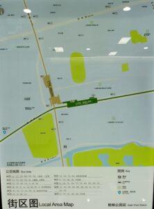 桂林公園駅周辺図(出入口)