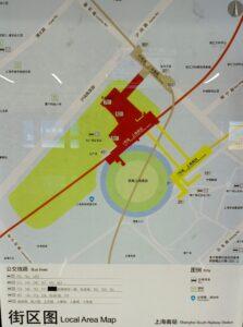 上海南站駅周辺図(出入口)
