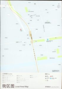 羅秀路駅周辺図(出入口)