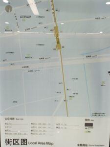 朱梅路駅周辺図(出入口)