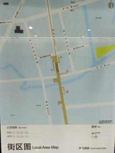 華涇西駅周辺図(出入口)