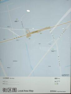 景西路駅周辺図(出入口)