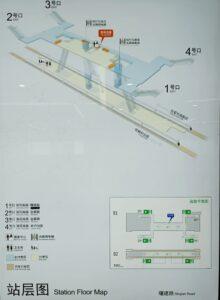 曙建路駅構内図