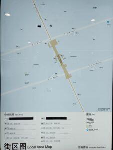 双柏路駅周辺図(出入口)