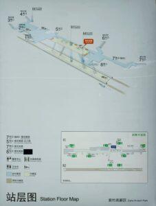 紫竹高新区駅構内図
